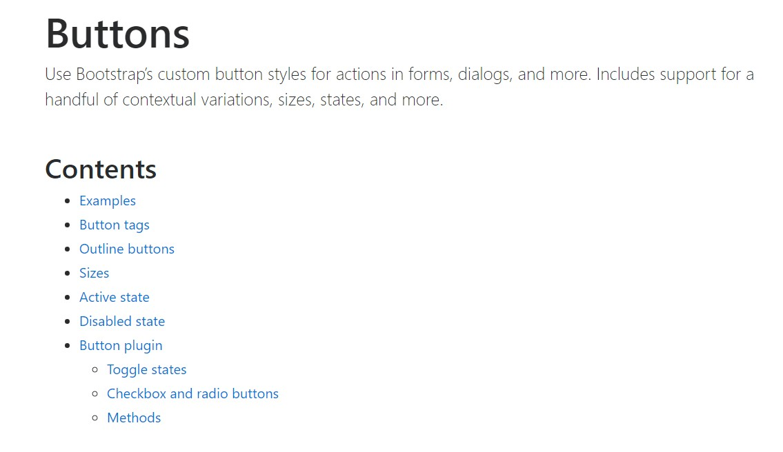 Bootstrap buttons  main  records