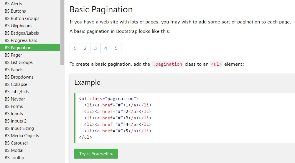 Bootstrap Pagination Example Demo
