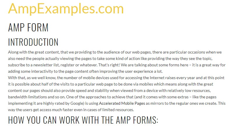 Why don't we  check AMP project and AMP-form  feature?