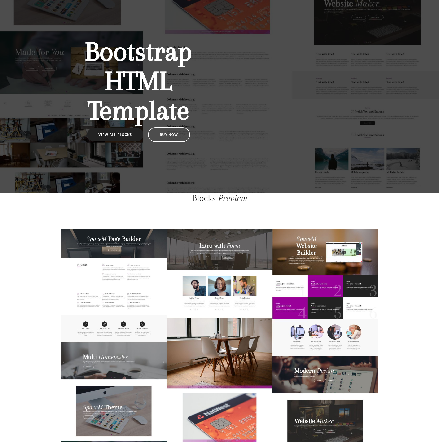Free Download Bootstrap HTML Themes