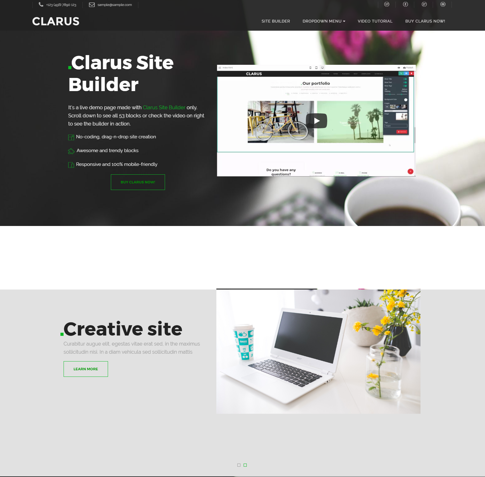 Free Bootstrap Clarus Themes