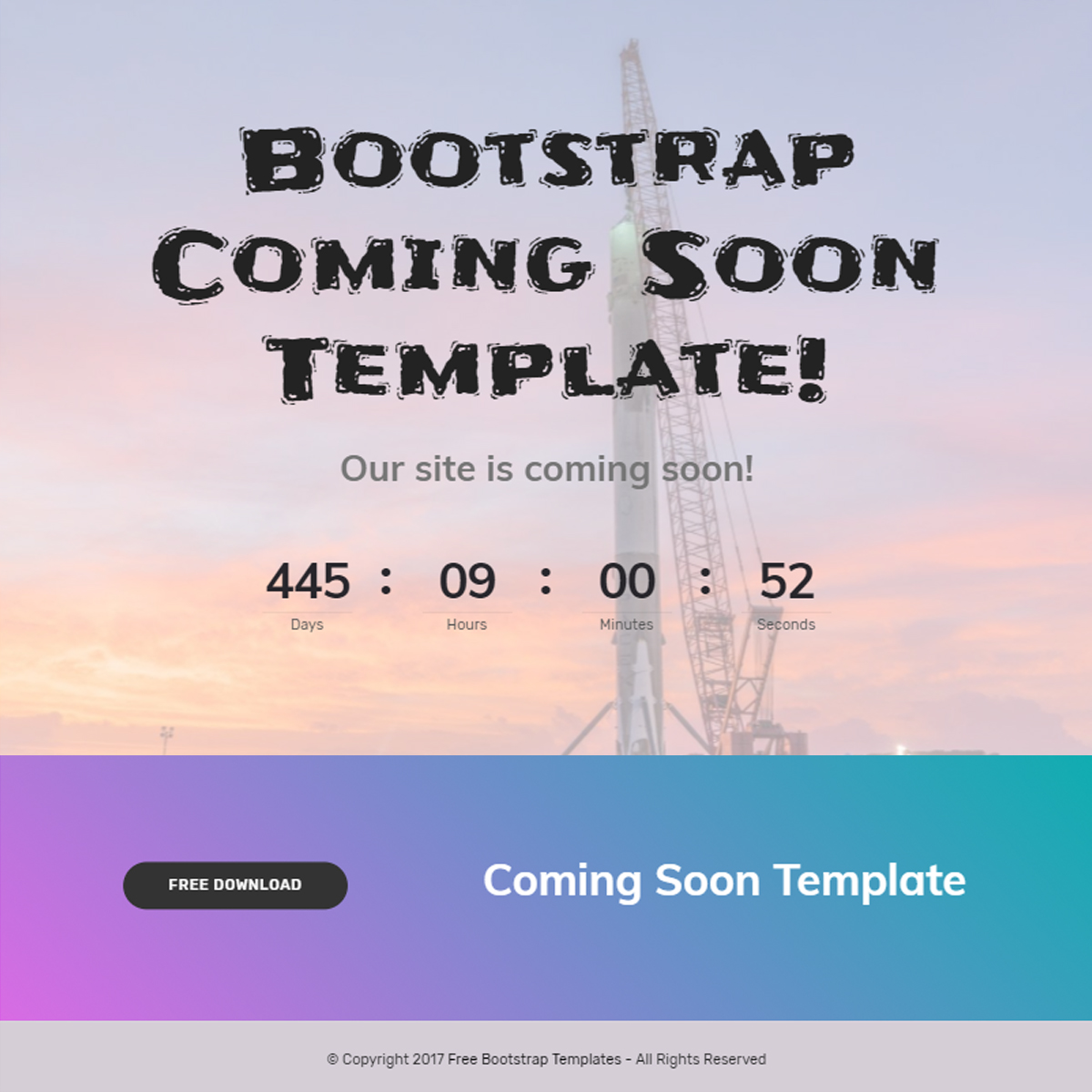 Free Bootstrap Coming Soon Themes