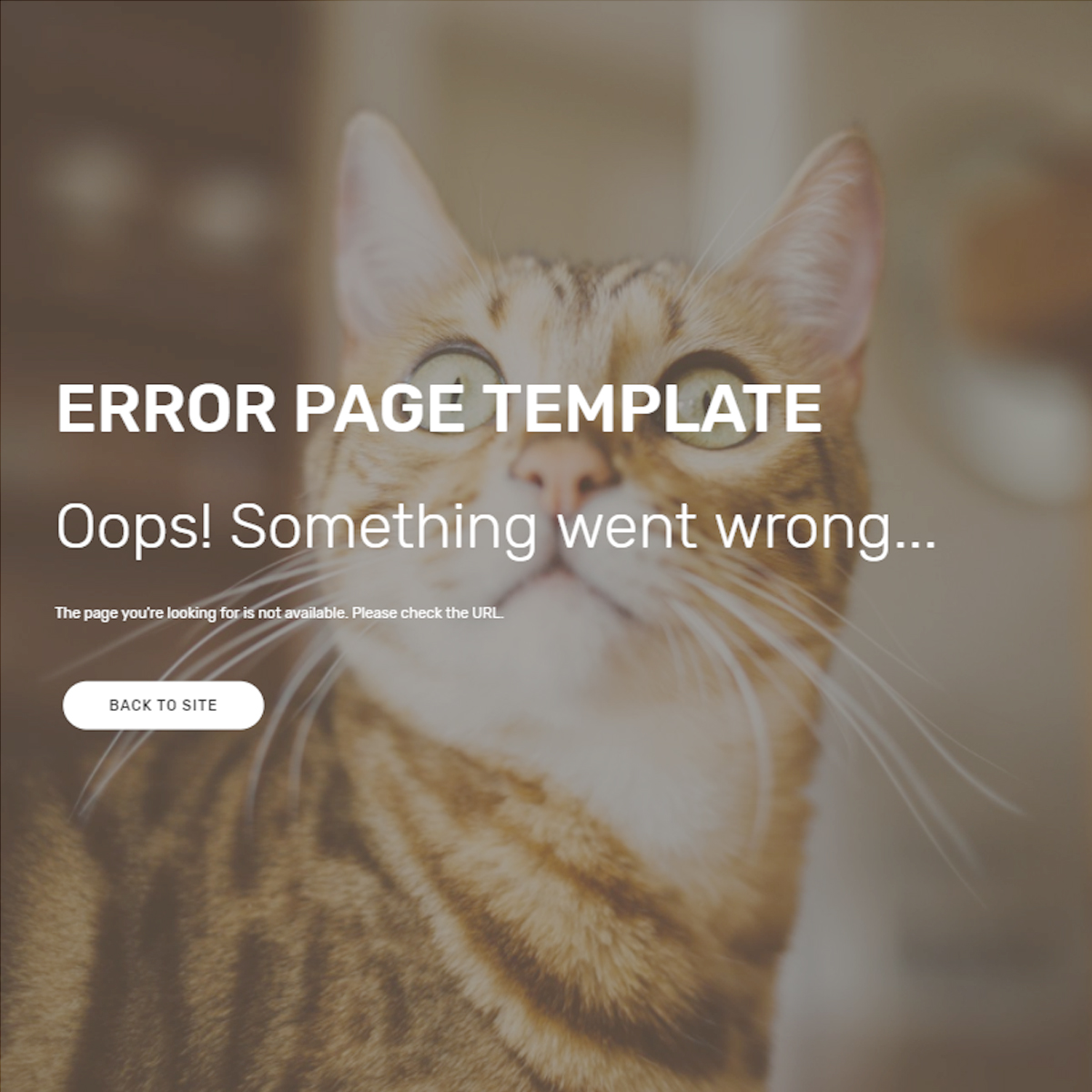 Free Download Bootstrap Error Page Themes
