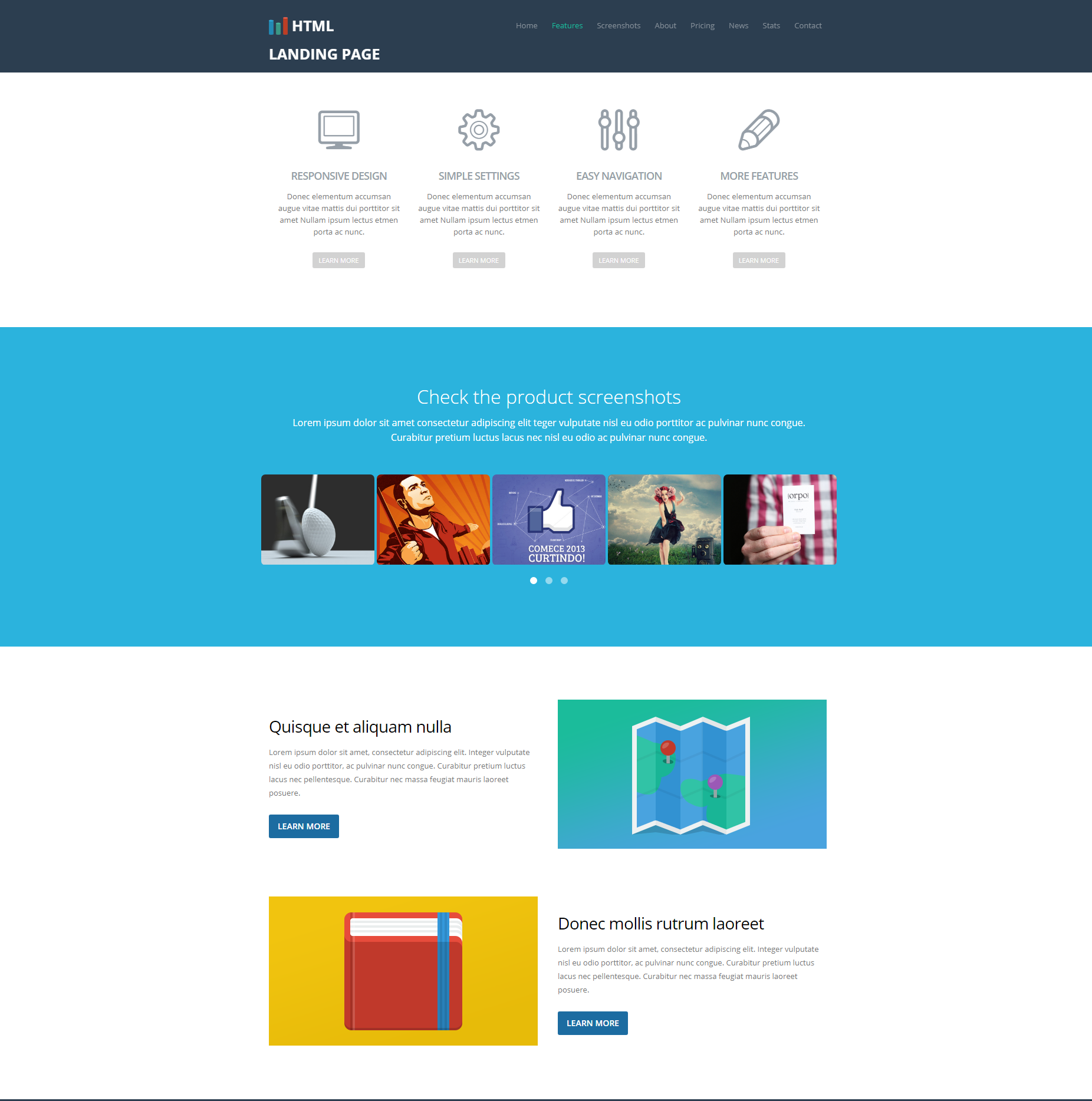 Free Download Bootstrap Ezyland Templates
