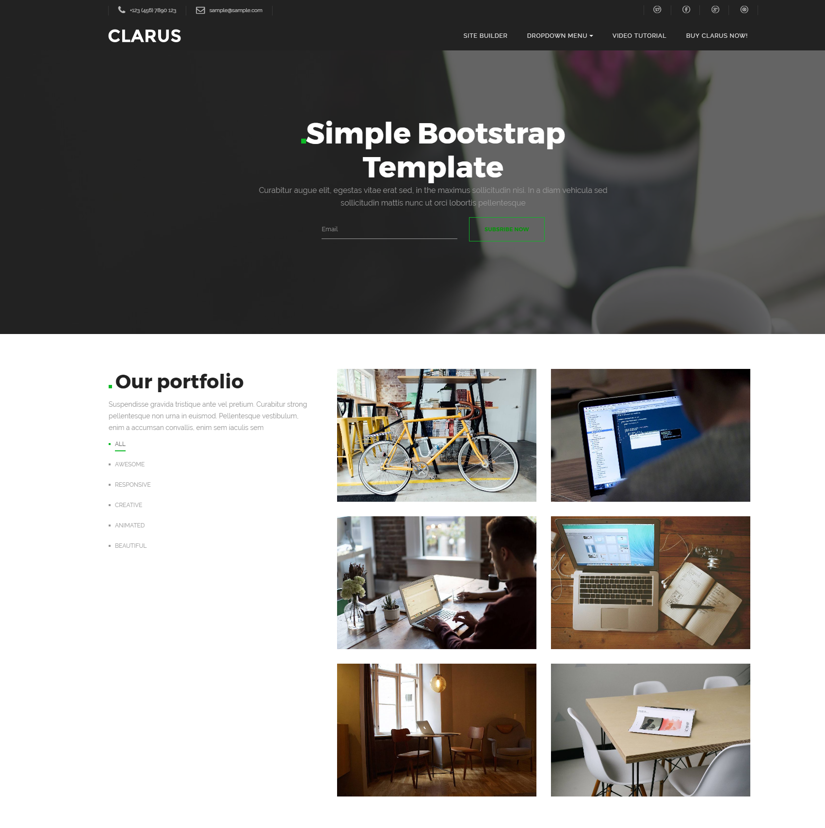 CSS3 Bootstrap Simple Themes