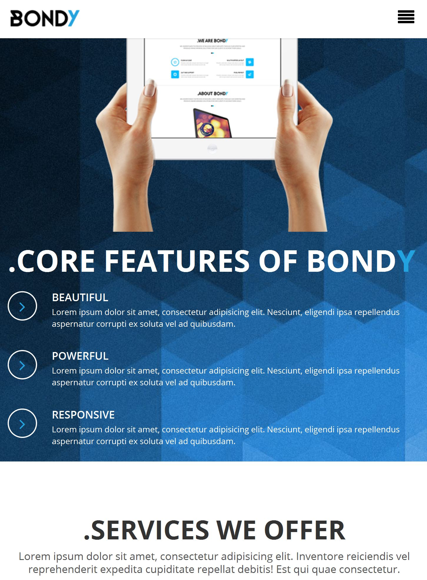 Responsive Bootstrap Template Free Download