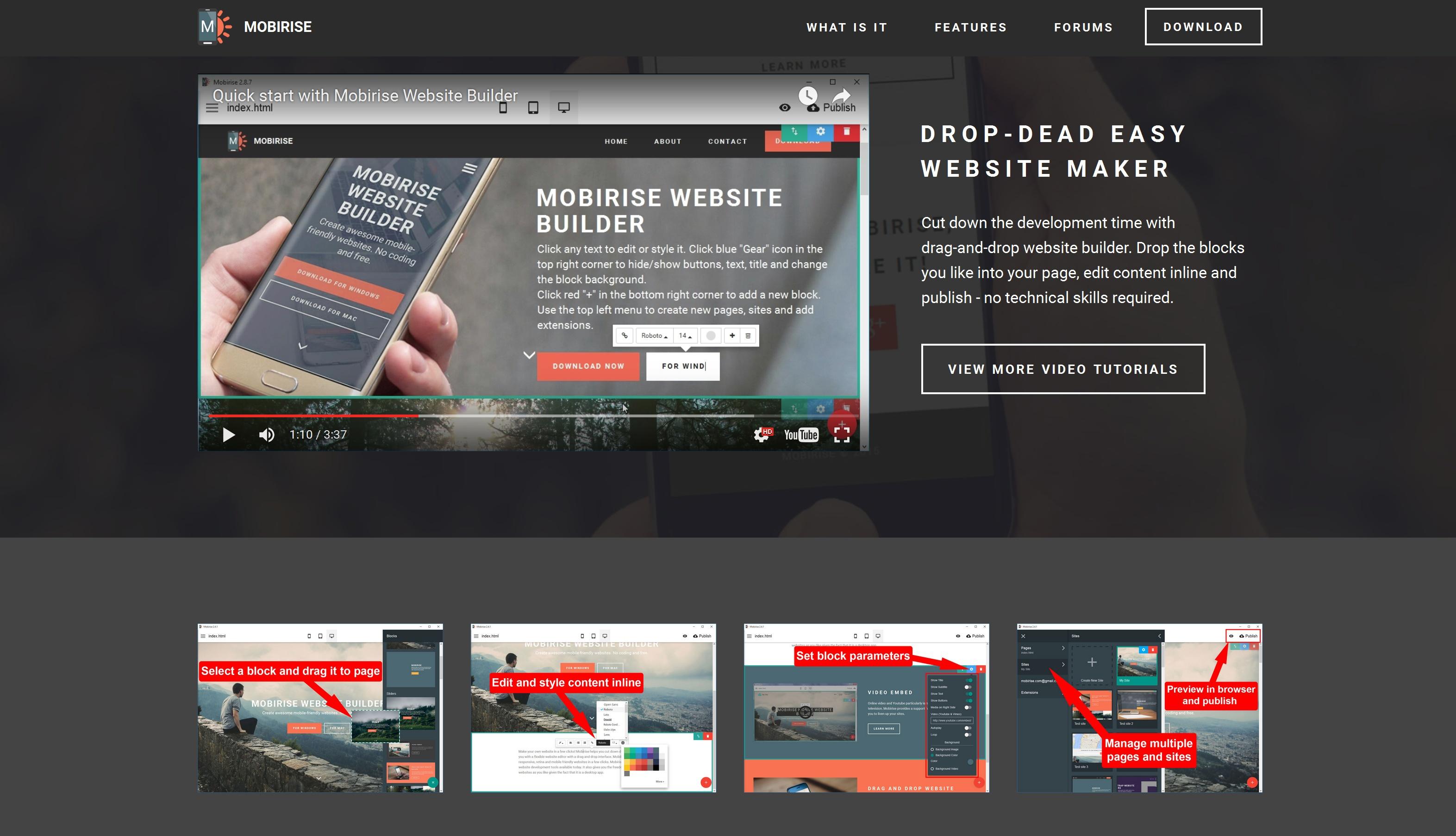 Responsive Mobile Website Generator Software