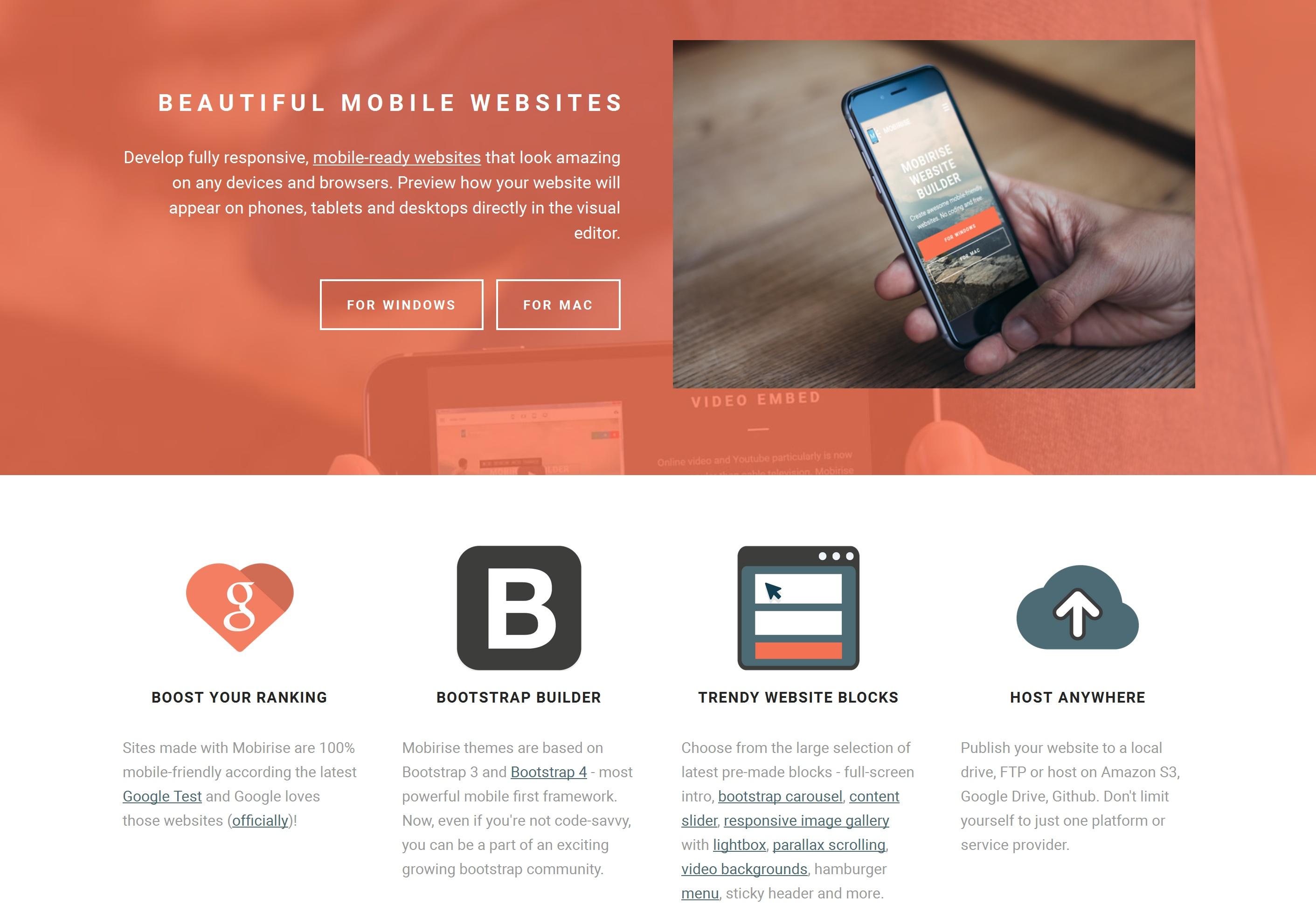 Drag and Drop Mobile Website Maker