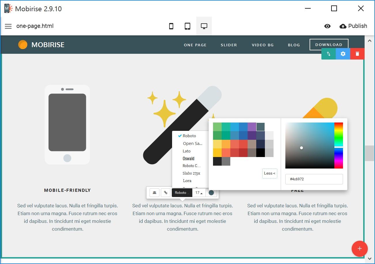 WYSIWYG Mobile Website Generator Software