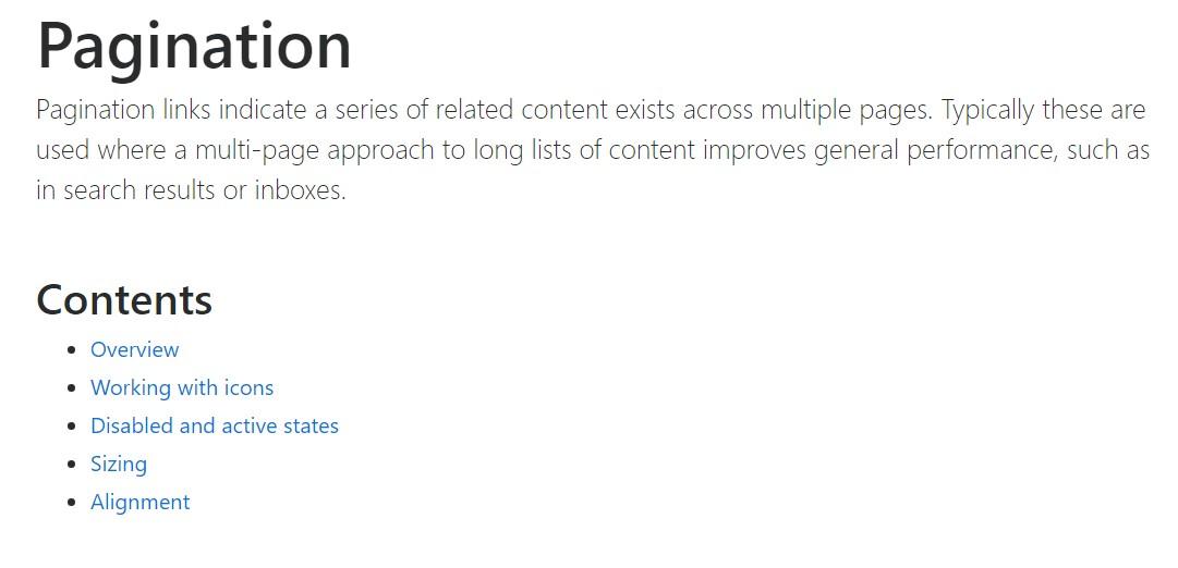 Bootstrap pagination  authoritative  information