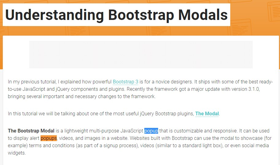 Yet another  valuable  post  relating to Bootstrap Modal Popup
