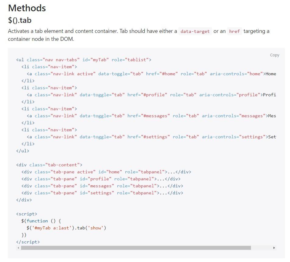 Bootstrap Nav-tabs: authoritative  records
