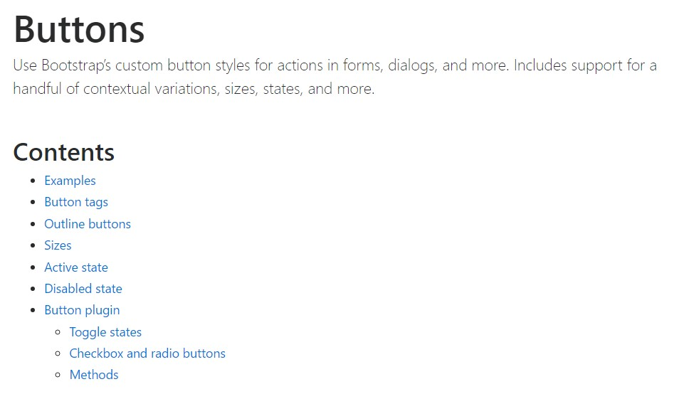 Bootstrap toggle official documentation