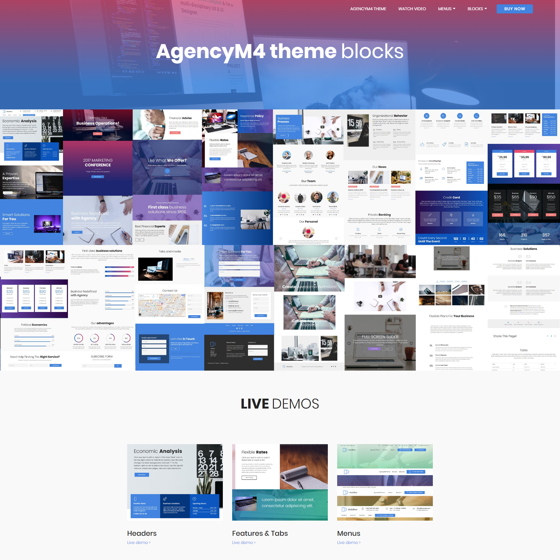 HTML5 Bootstrap AgencyM4 Templates