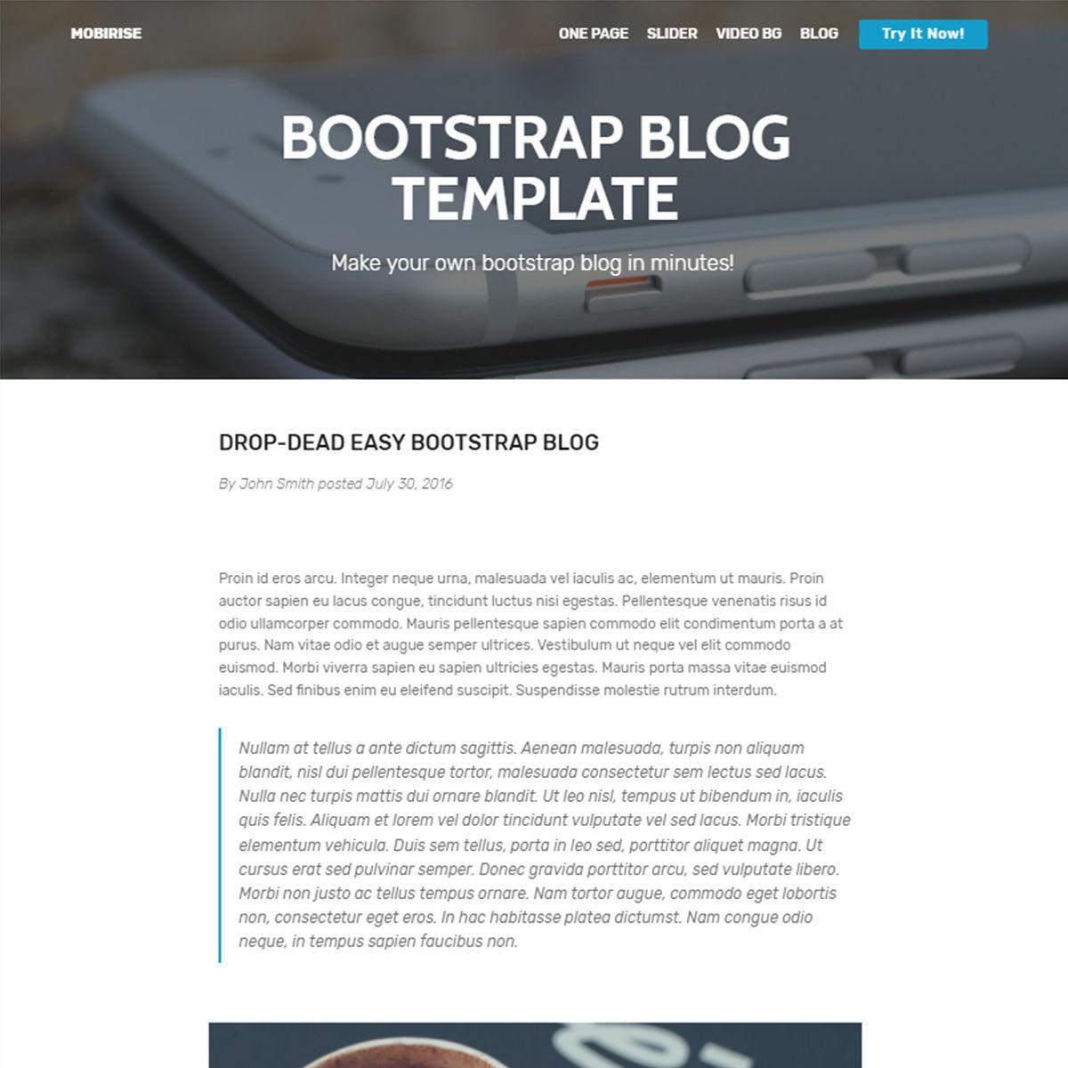 HTML5 Bootstrap Blog Templates