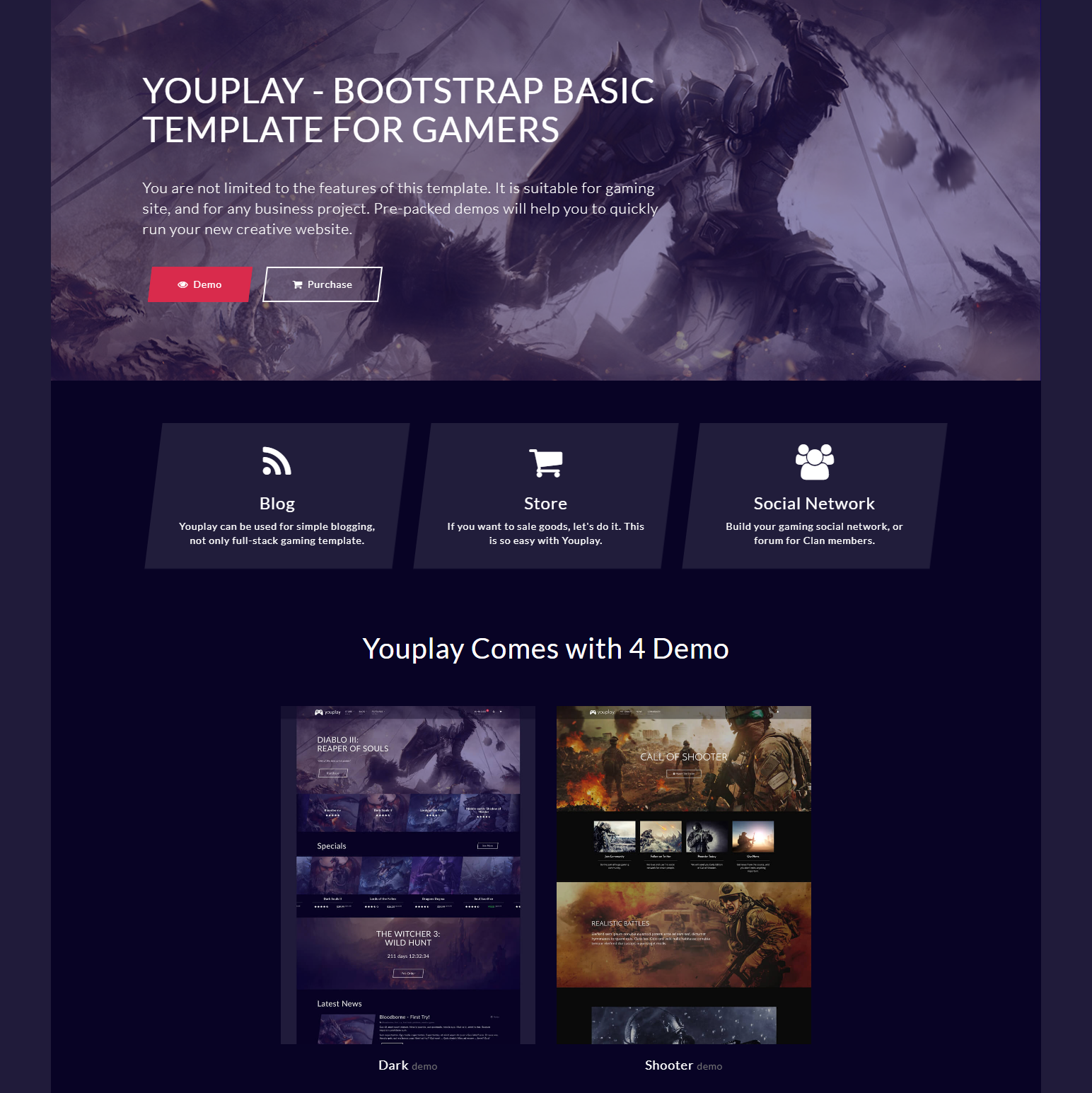 Responsive Bootstrap YouPlay Themes