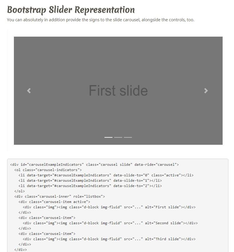Bootstrap Content Slider