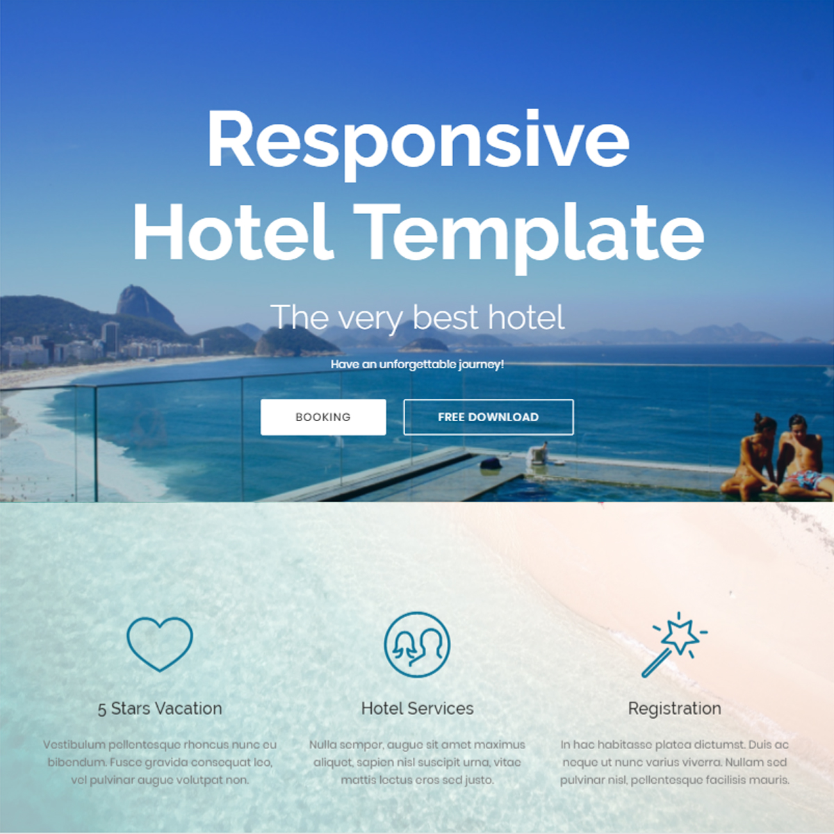 HTML Bootstrap Hotel Templates