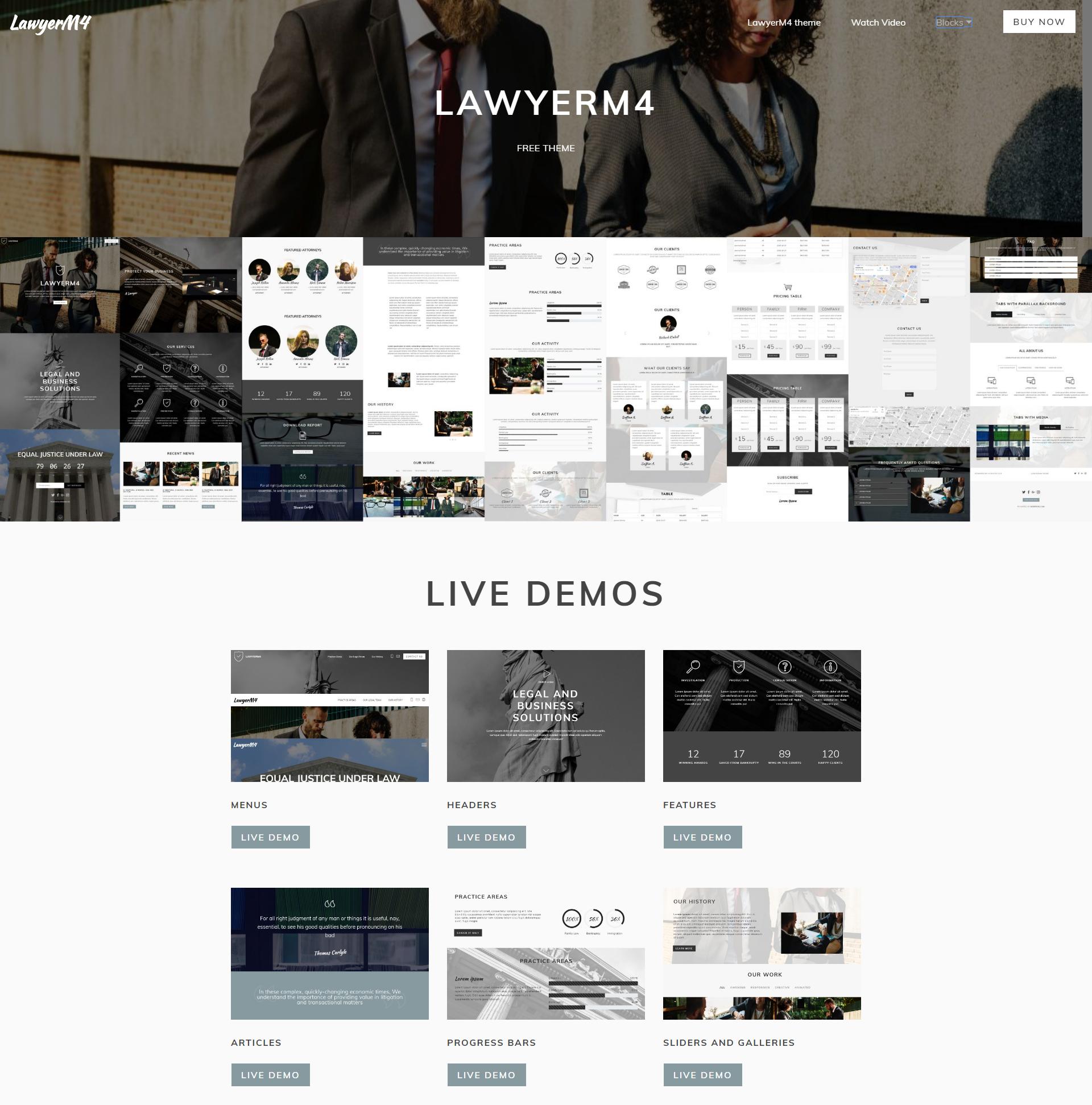 Responsive Bootstrap LawyerM4 Themes