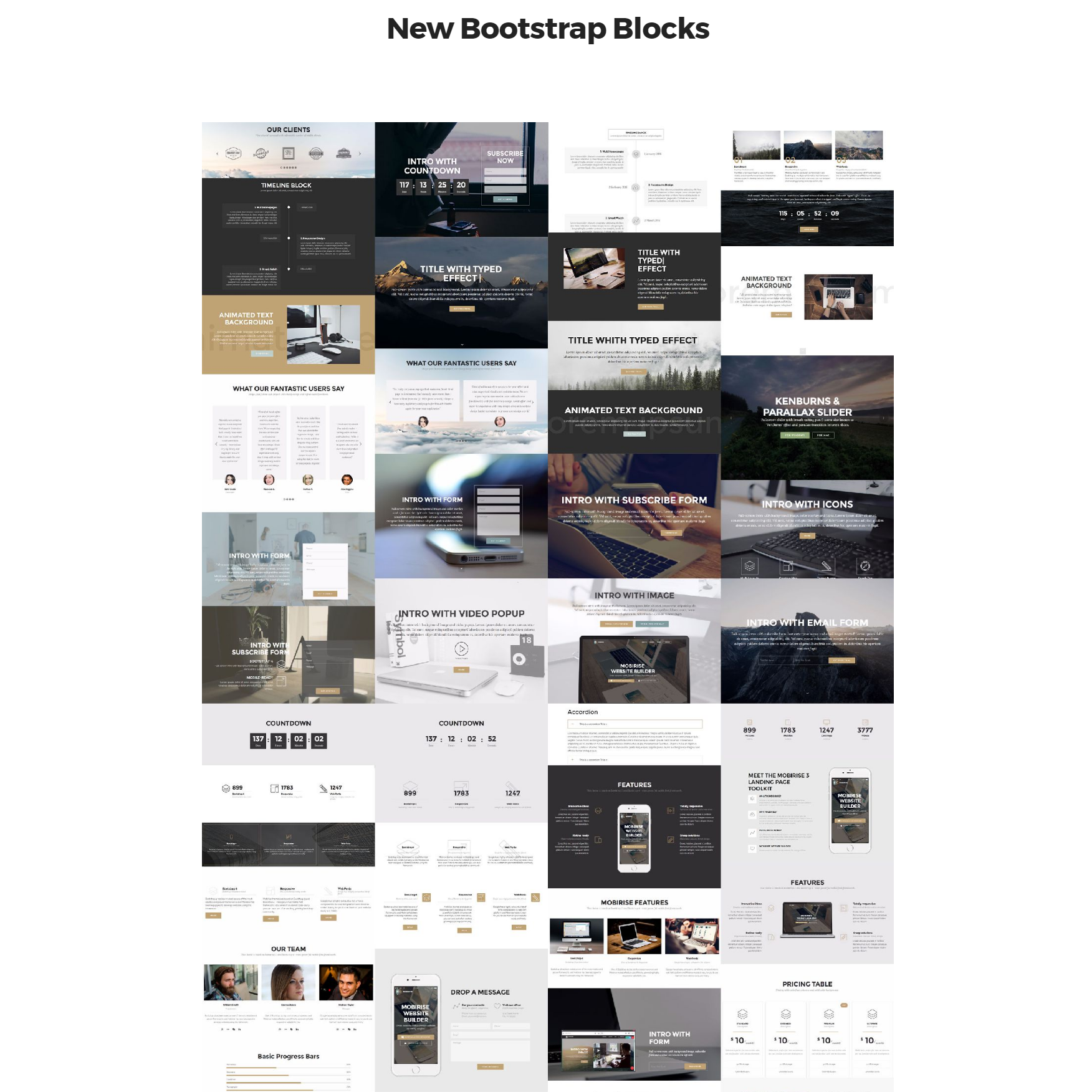 HTML5 New Bootstrap Themes