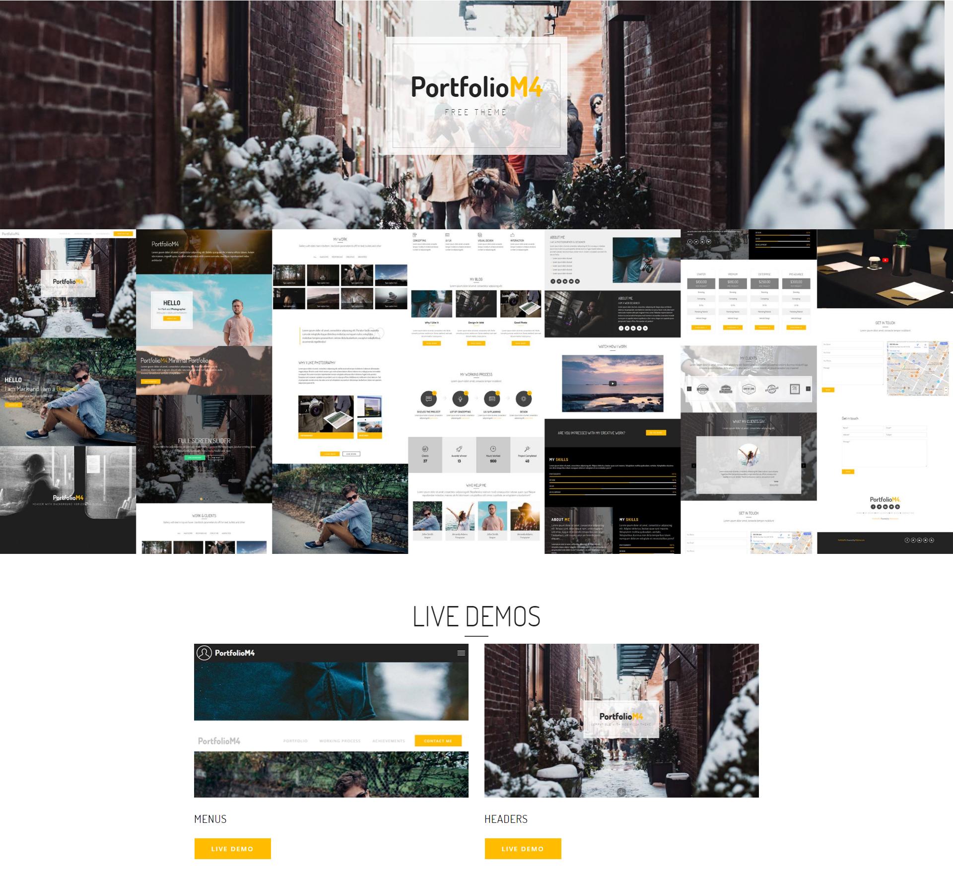 HTML Bootstrap PortfolioM4 Themes