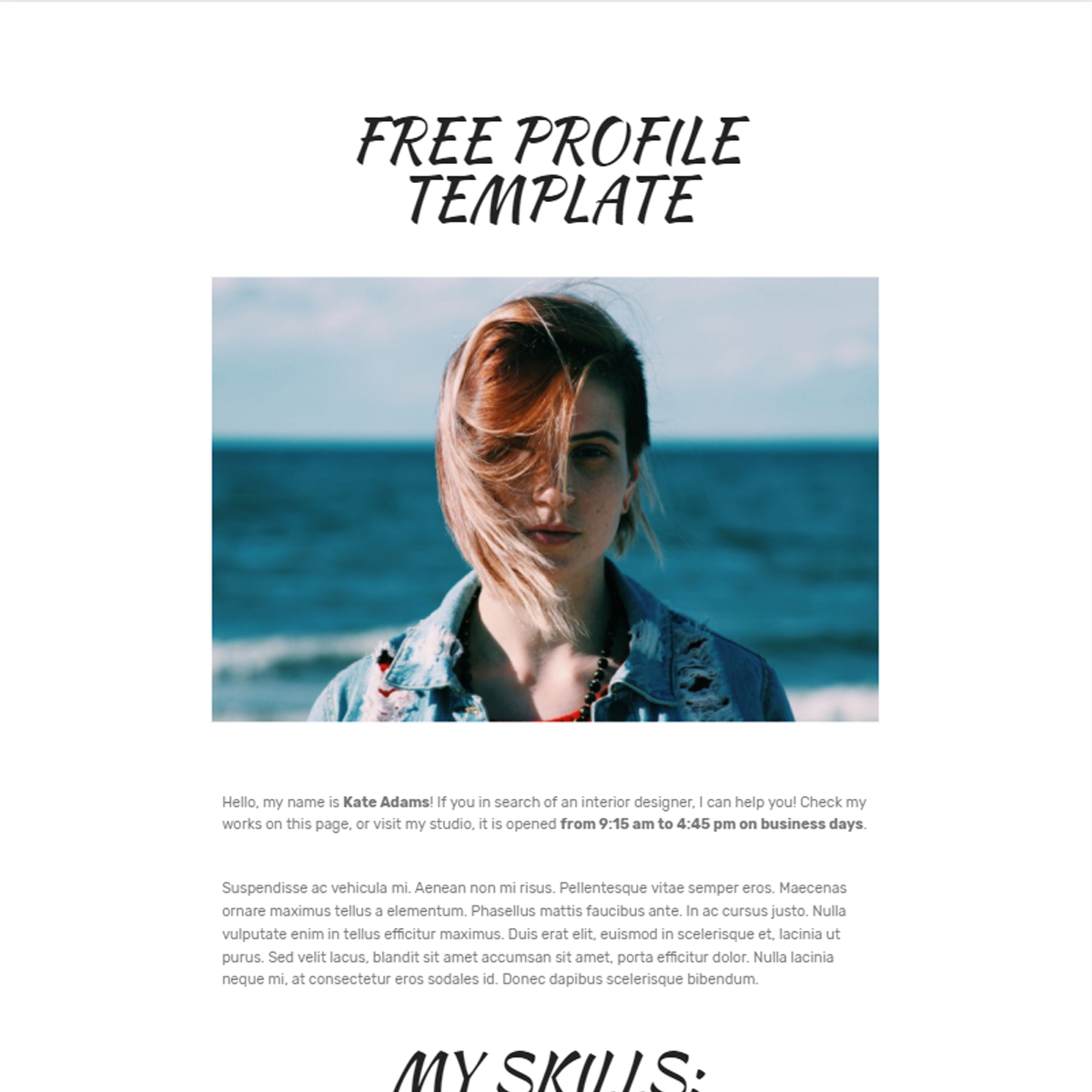 HTML Bootstrap Profile Themes