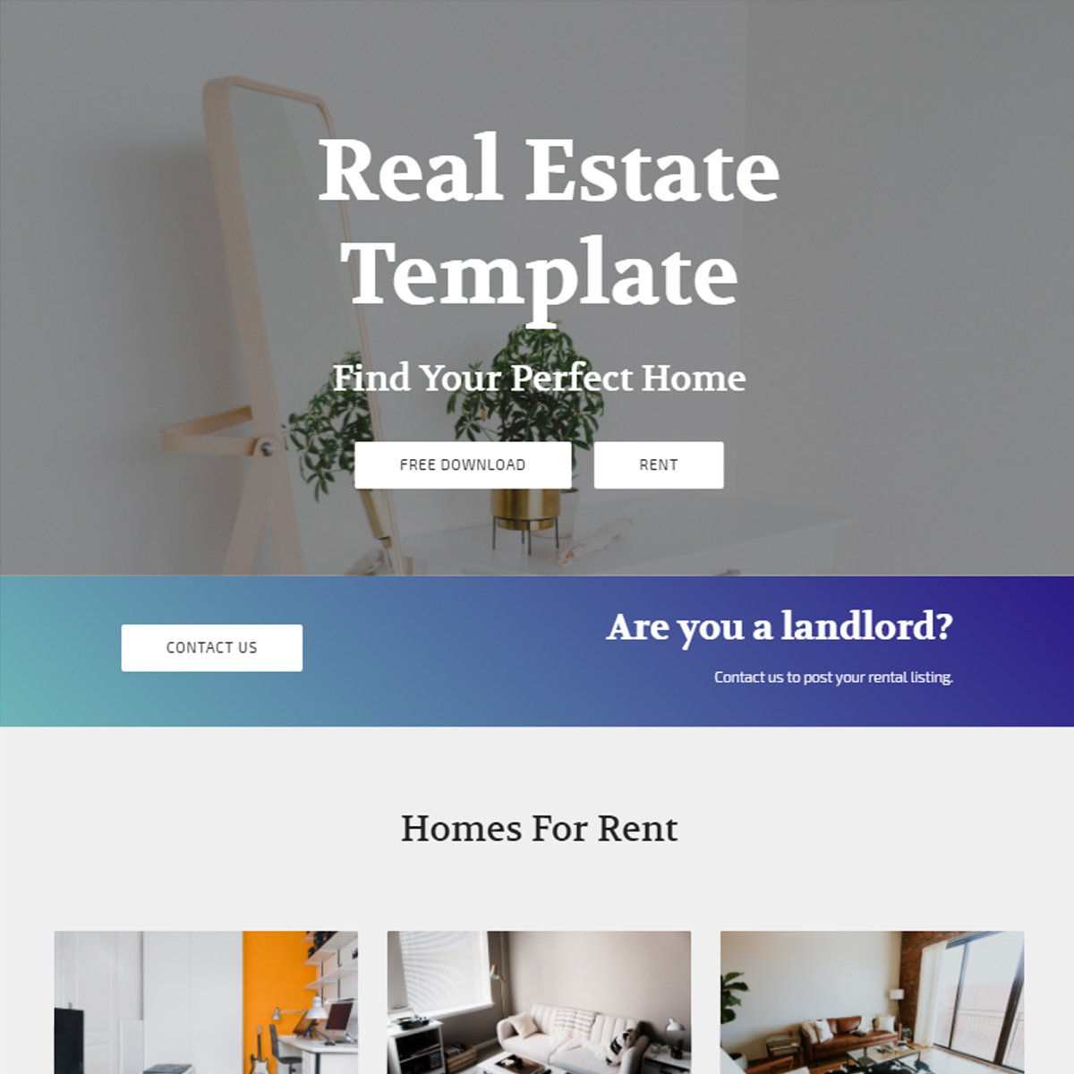 HTML5 Bootstrap Real Estate Templates
