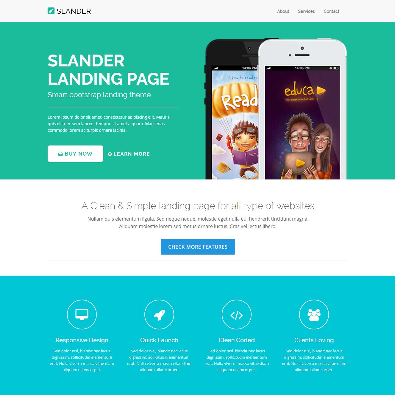 HTML5 Bootstrap Slander Themes