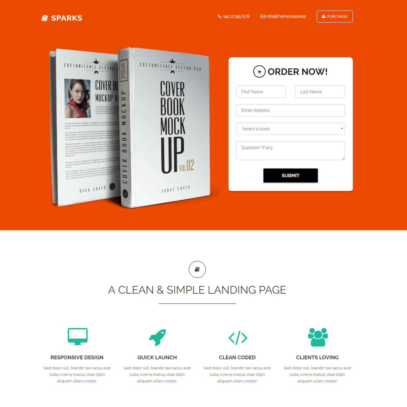 CSS3 Bootstrap Sparks Templates