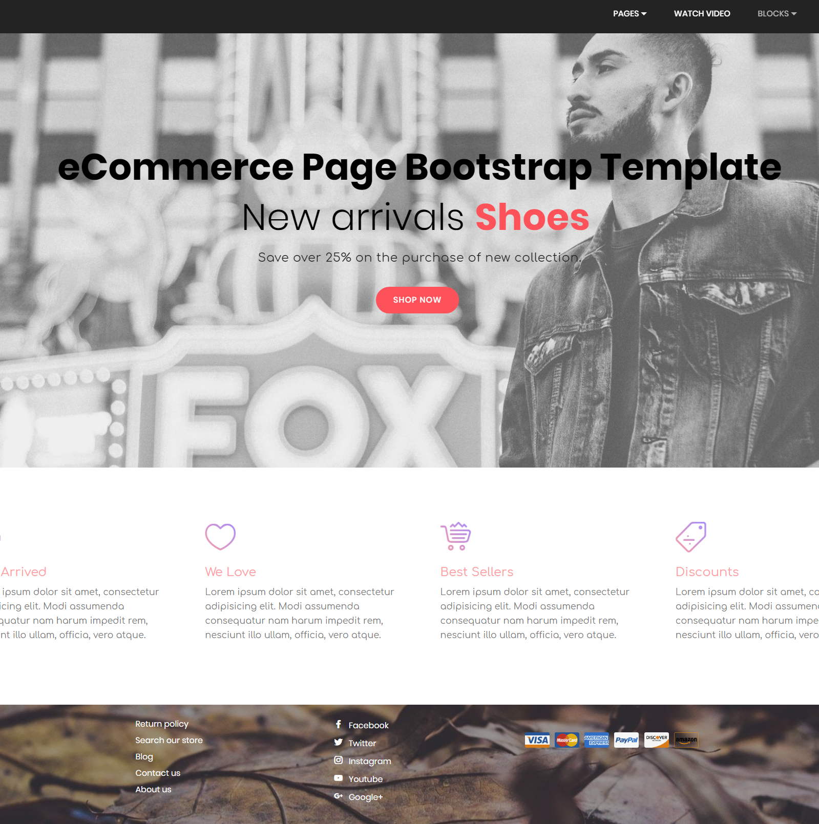 HTML Bootstrap eCommerce Templates