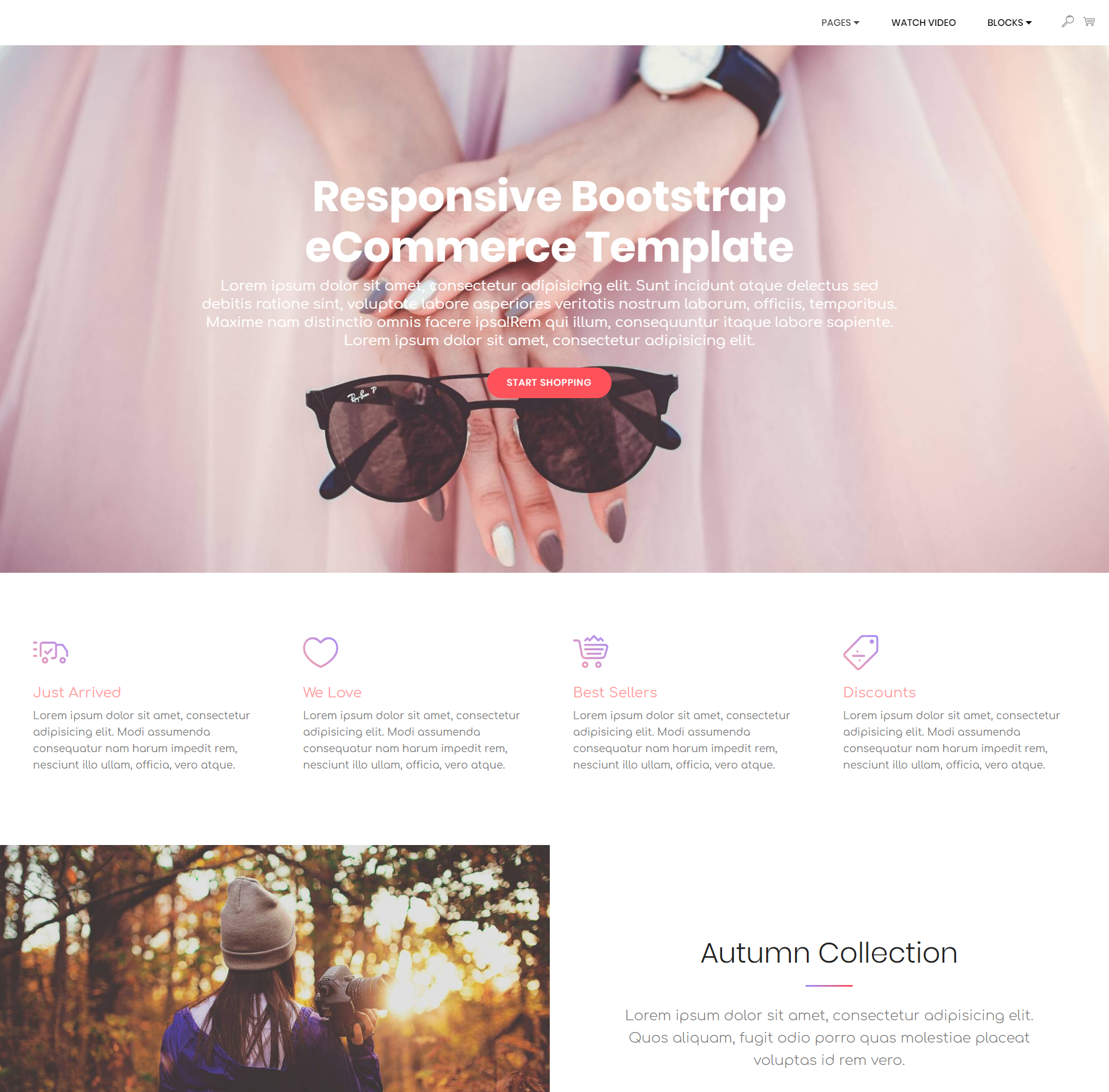 HTML Bootstrap Responsive eCommerce Themes