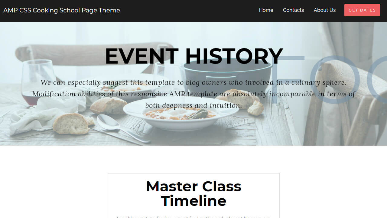 AMP Culinary HTML Template
