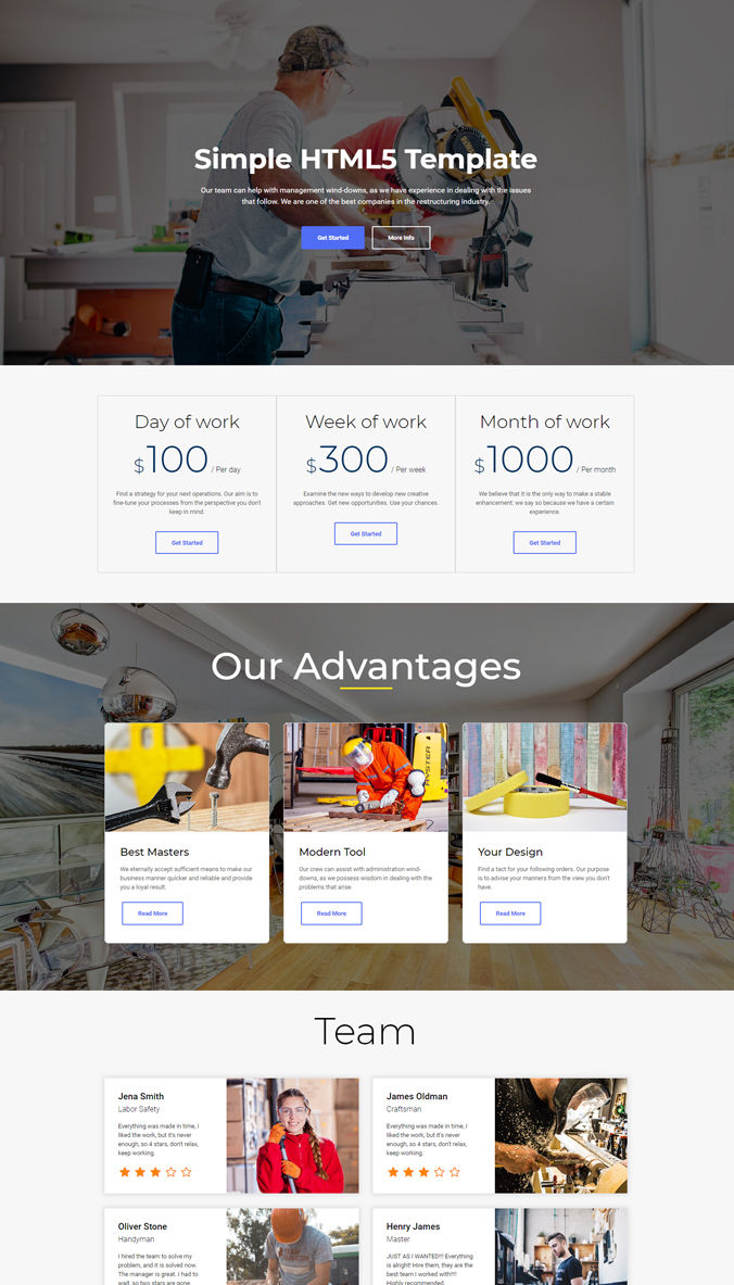 Adaptive Website Templates
