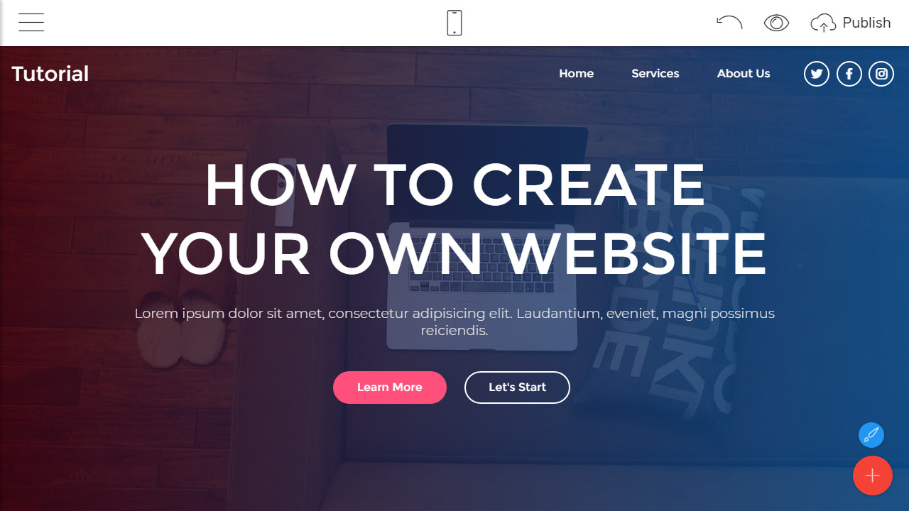 how to create a website free