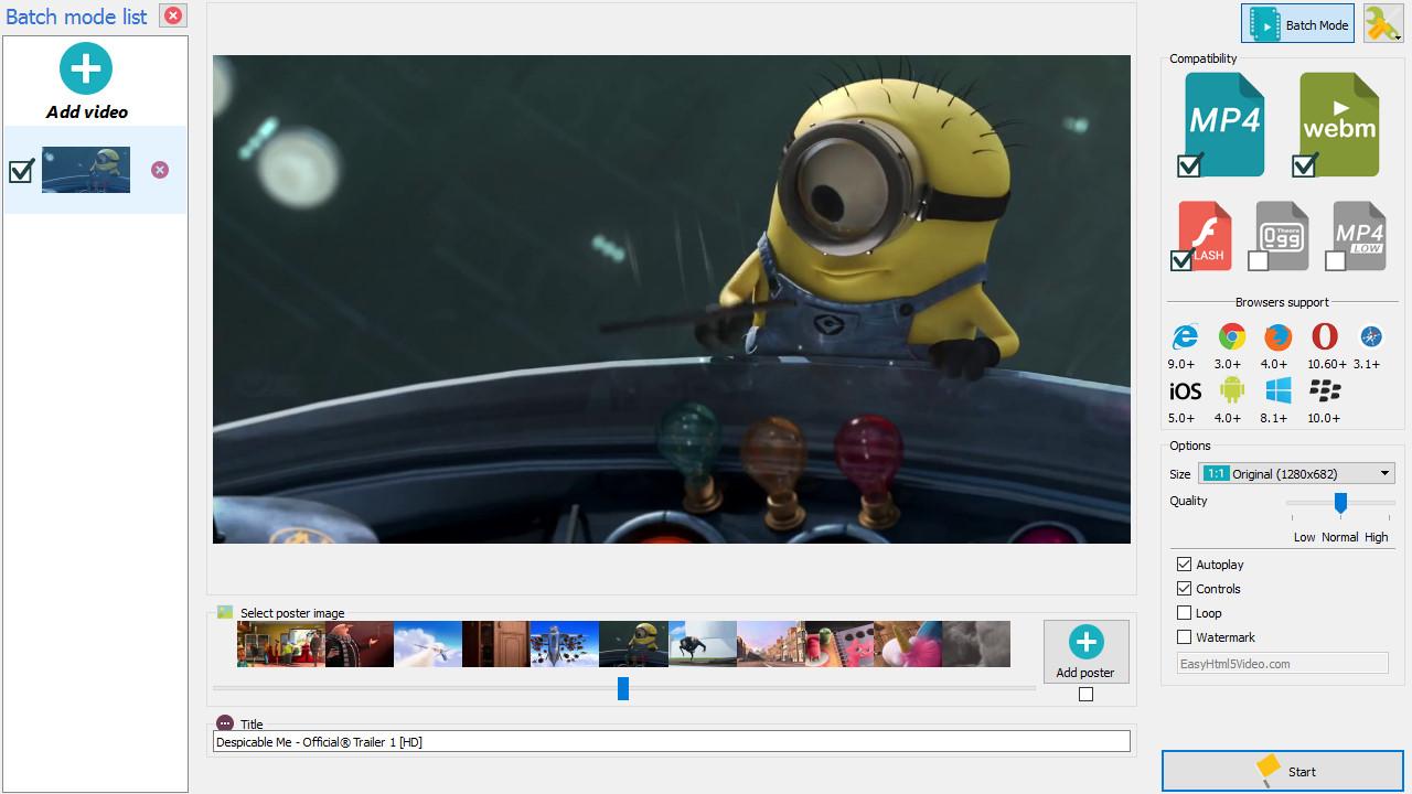 html video autoplay
